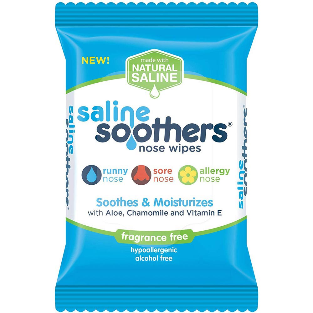 """Nehemiah Saline Soothers Nose Wipe, Menthol, 5"""" x 4"""" x 3"""""""
