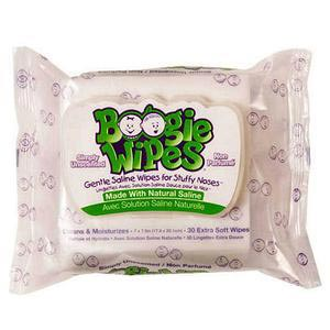 Nehemiah Boogie Wipes Saline Nose Wipe, Unscented