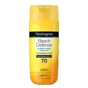 Neutrogena Beach Defense Water Sunscreen Lotion, SPF 70, 6.7 oz