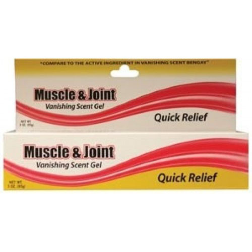 New World Muscle and Joint Gel 3 oz, 2-1/2% Menthol