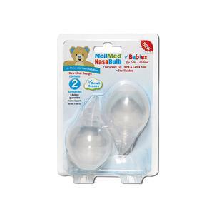 NasaBulb Nasal Aspirator, Silicone Bulbs, Clear