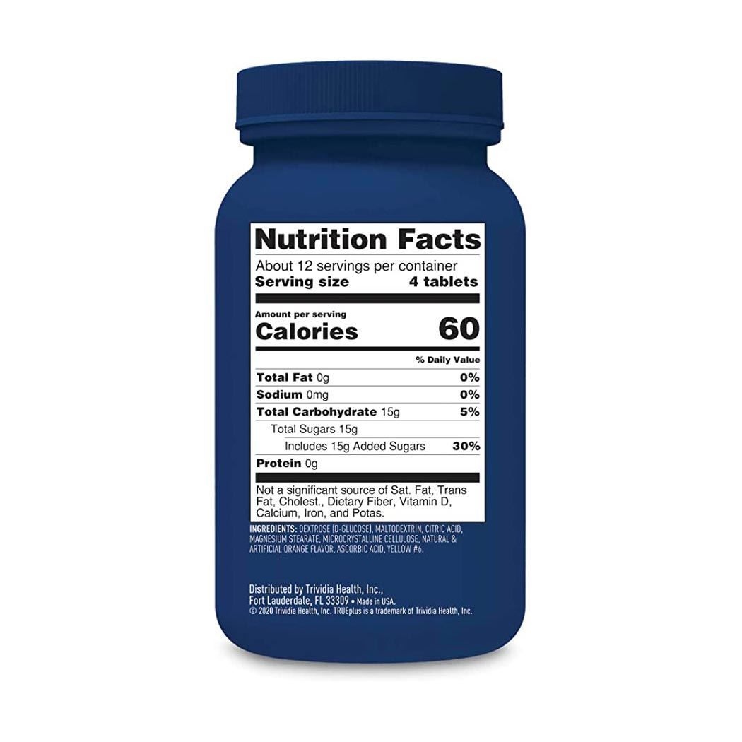 TRUEplus Dextrose Glucose Supplement, Chewable Tablet