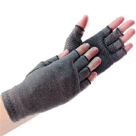 North American Fingerless Compression Glove, Gray