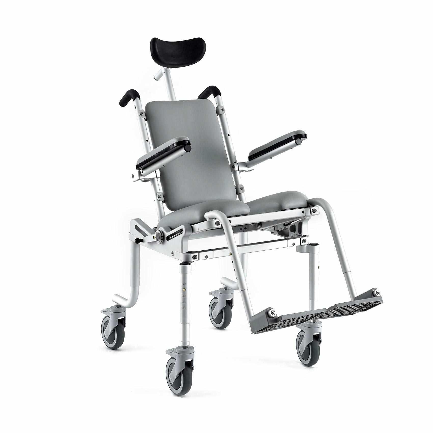 Nuprodx Multichair 4000Tilt Pediatric Roll-In-Shower Commode Chair
