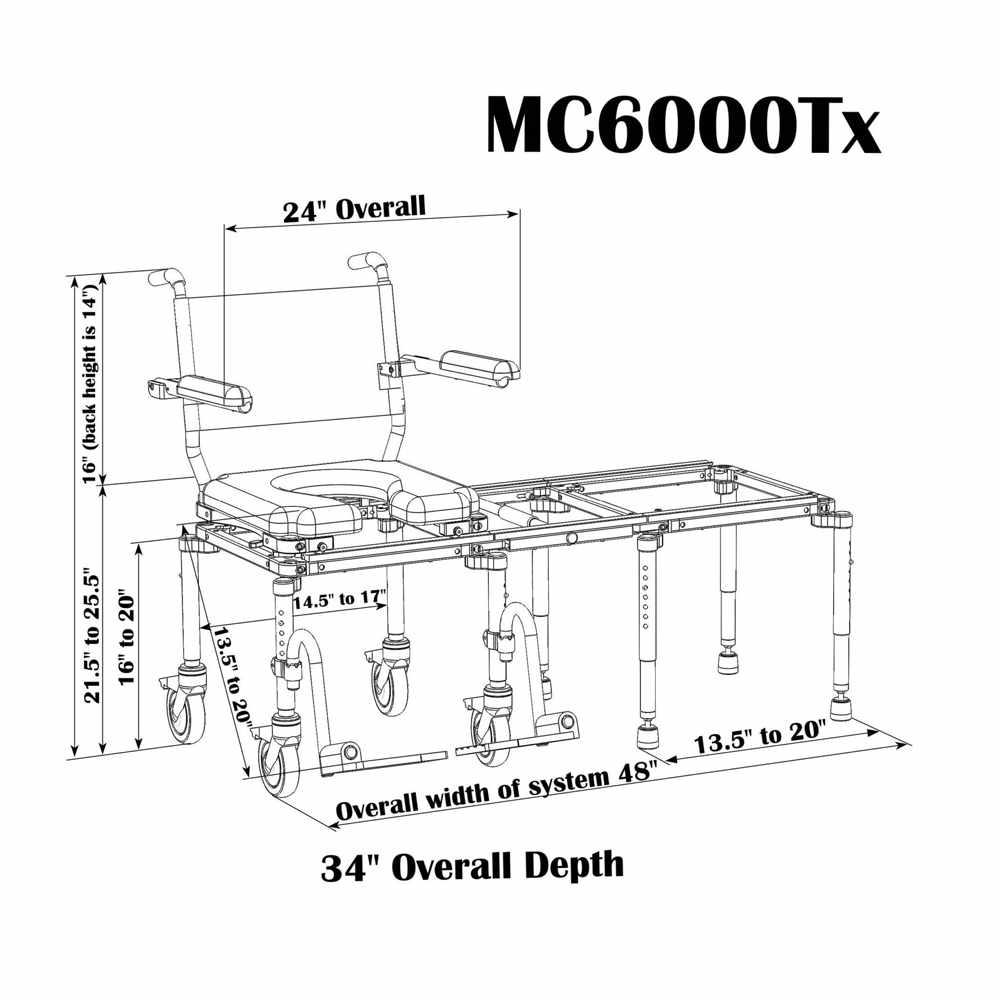 Nuprodx multichair 6000Tx tub slider system