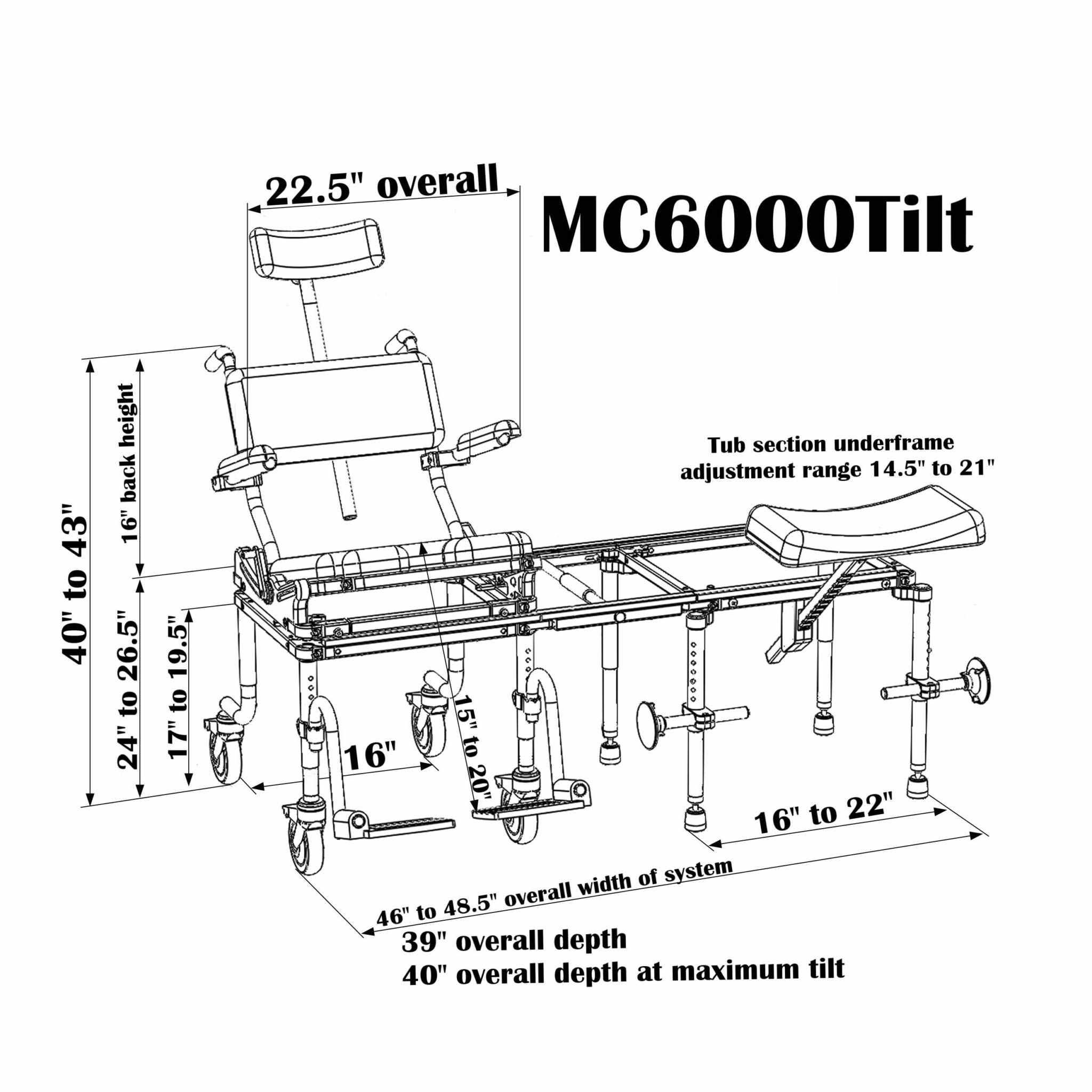 Nuprodx Multichair 6000Tilt Tub/Slider System | Medicaleshop