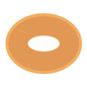"Nu-Hope Skin Barrier 54 Oval Disc, Pre-Cut Opening, 3/4"" x 1-1/2"" ID"