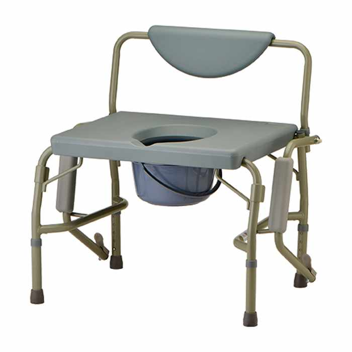 Nova Heavy Duty Commode with Drop-Arm and Extra Wide Seat