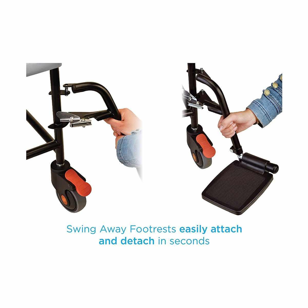 Nova Transport Drop-Arm Commode Chair