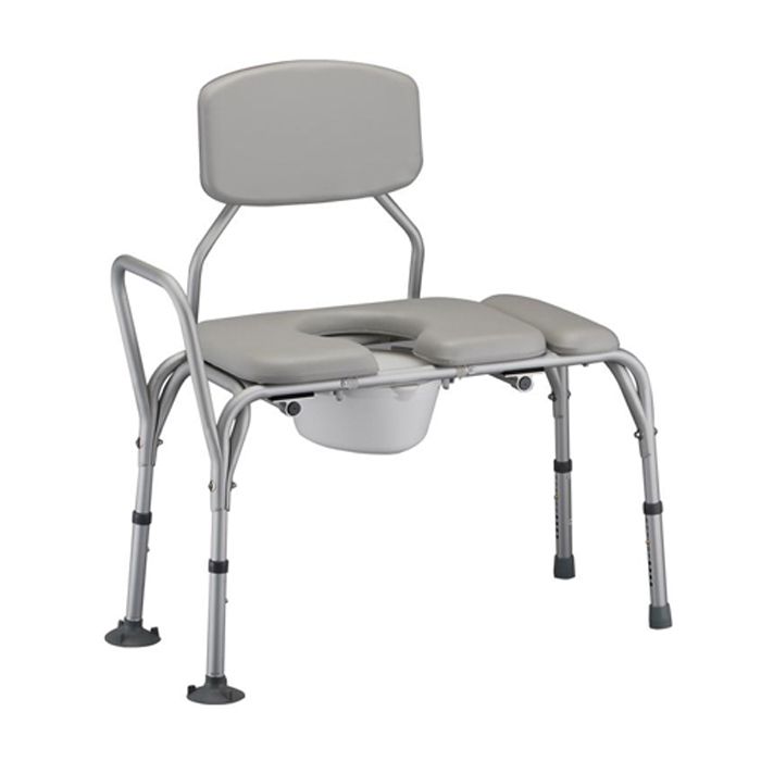 Nova Padded Transfer Bench with Commode