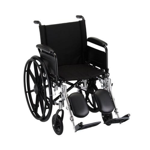 Nova Lightweight Wheelchair - 18 Inch With Flip Back Full Arms