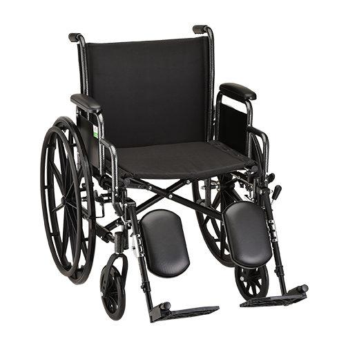 Nova Steel Wheelchair - 20 Inch With Elevating Leg Rests