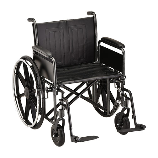 Nova Heavy Duty Steel Wheelchair - 22 Inch
