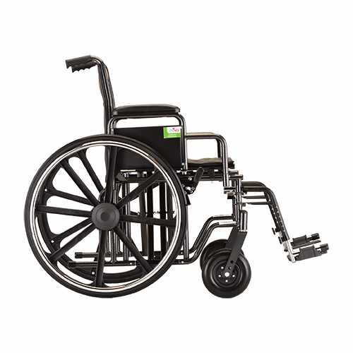 Nova Heavy Duty Steel Wheelchair - 22 Inch Swing Away Footrests