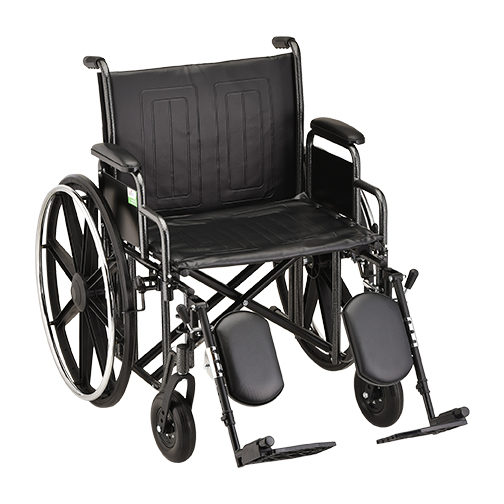 Nova Heavy Duty Steel Wheelchair - 22 Inch with Detachable Desk Arms