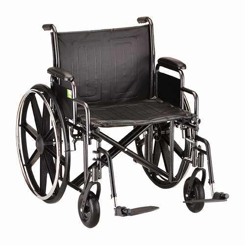 Nova 22 Inch Heavy Duty Steel Wheelchair