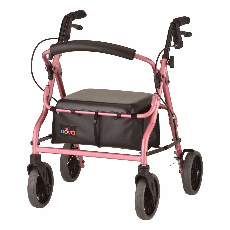 Nova Zoom Rolling Walker - Pink