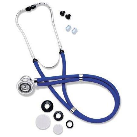 Omron Double Lumen 2-Tube Sprague Stethoscope, Blue