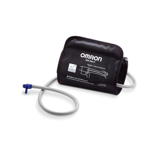 """Omron Wide Range D-Ring Cuff, Replacement, 9"""" to 17"""", Black"""