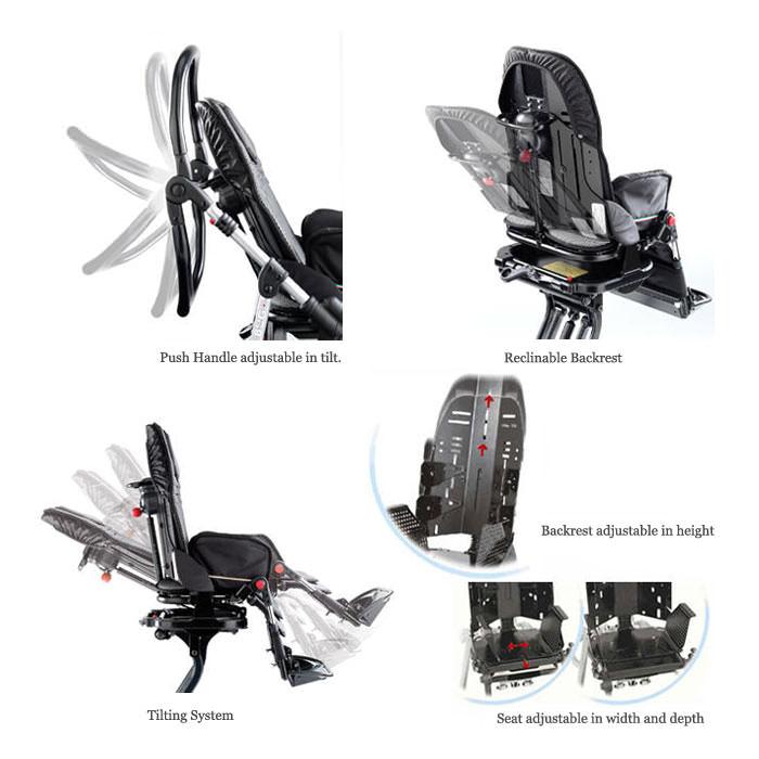 Ormesa New Bug Four Wheel Stroller - Features