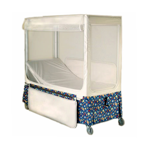 Pedicraft canopy enclosed bed with fixed mattress support
