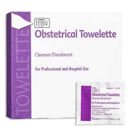 "PDI HYGEA Obstetrical Towelettes, 7-7/8"" x 5"""
