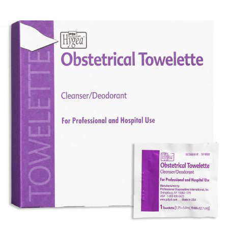 PDI Hygea Obstetrical Wipe Individual Packet BZK
