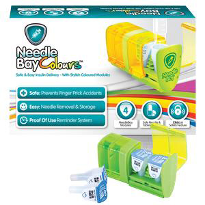 NeedleBay Color 4 Safe Needle and Tablet Storage Medication System