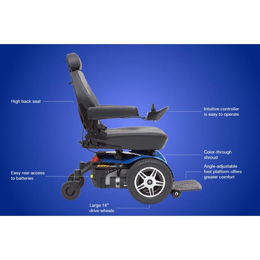 Pride Jazzy Elite HD Wheelchair