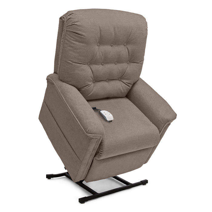 Pride LC-358 3-position lift chair - Cloud 9 stone fabric