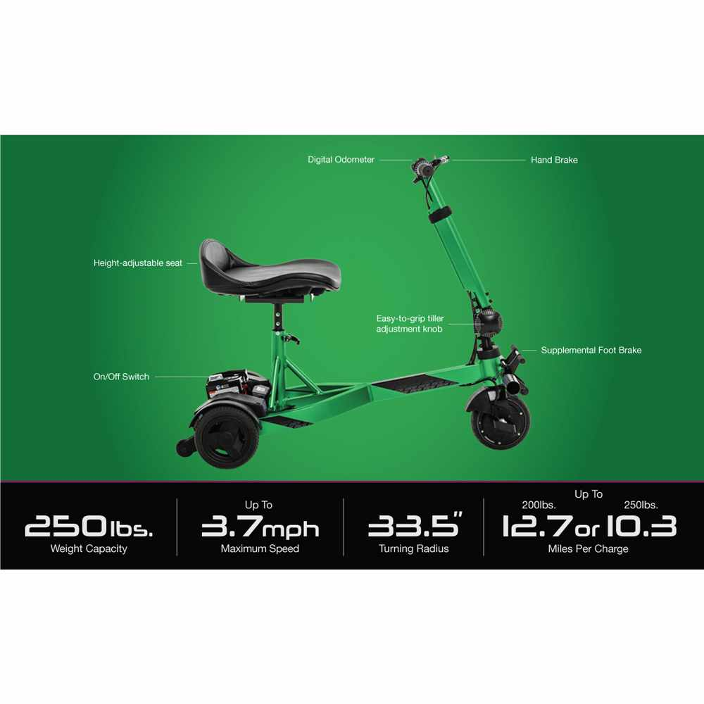 Pride iRide Lightweight Portable Scooter - Features