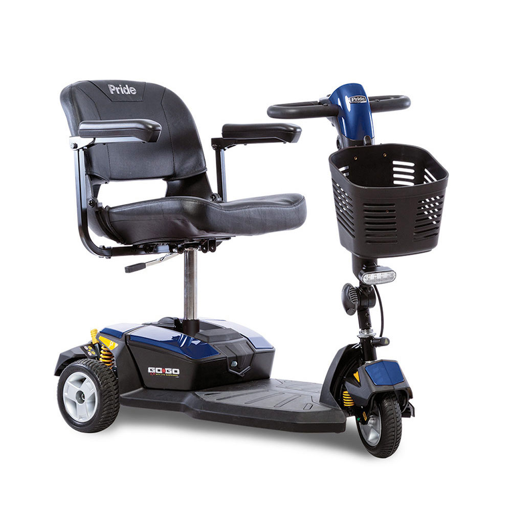 Pride Go-Go LX 3 wheel travel scooter with CTS