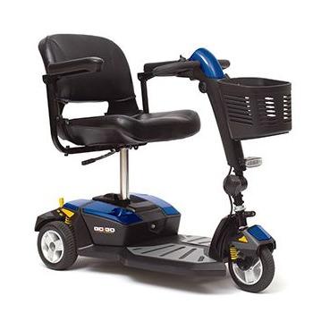 Pride Go-Go LX 3 wheel travel scooter