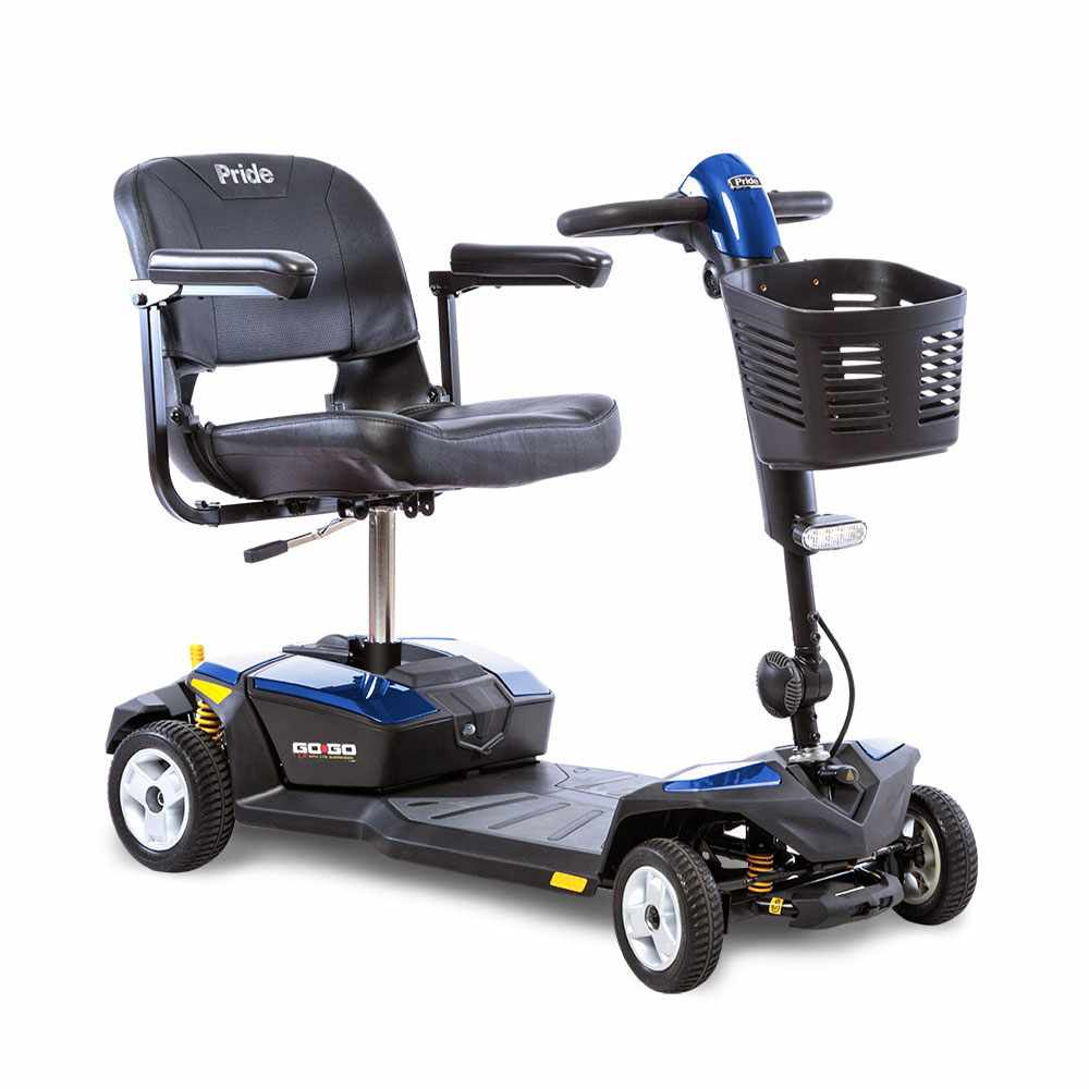 Pride Go-Go LX 4 wheel travel scooter with CTS