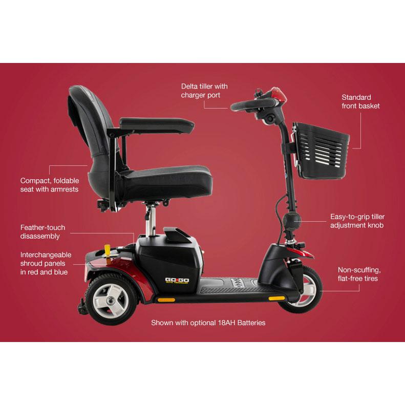 Pride Go-Go Traveller Mobility Scooter
