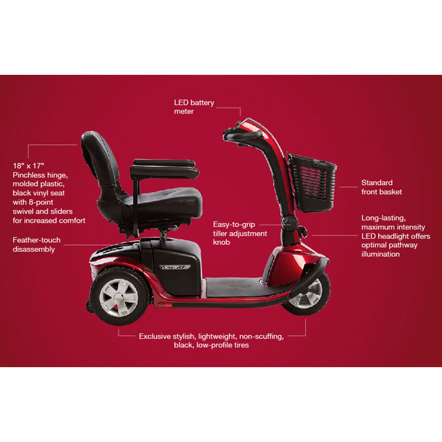 Victory 10 3-wheel mobility scooter