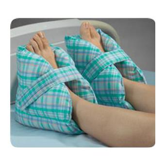 """Posey Pastel plaid Cotton/Polyester Heel Pillows Washable Comfortable 10"""" L x 9"""" H- Each"""