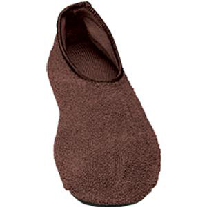 Posey Non-skid Completely Ribbed Slippers, Medium/Large, Brown