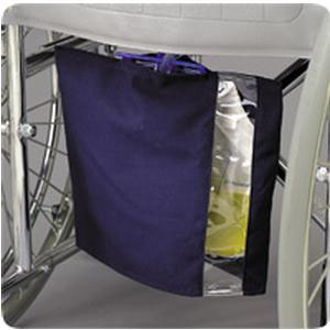 Posey Urinary Drainage Canvas Bag Cover with Window, Navy Blue