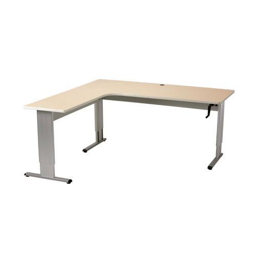 Accella adjustable L-shape desk