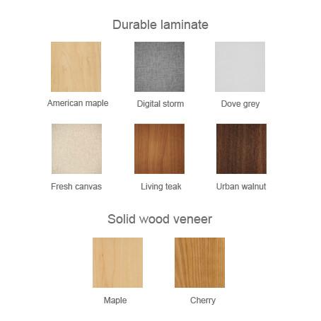 Accella adjustable L-shape desk - Colors