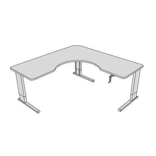 Accella adjustable wrap corner desk