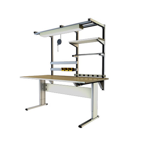 Accella adjustable workbench with 2 legs