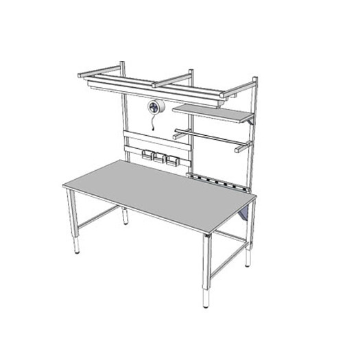 Accella adjustable workbench with 4 legs