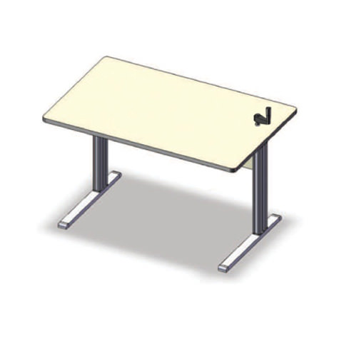 Equity adjustable workstation with top crank