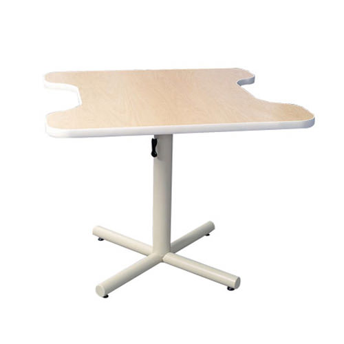 Progression adjustable hand therapy table with dual comfort recess