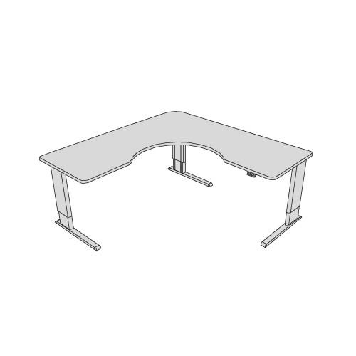 Infinity adjustable wrap corner desk