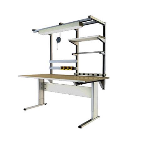Infinity adjustable workbench with 2 legs