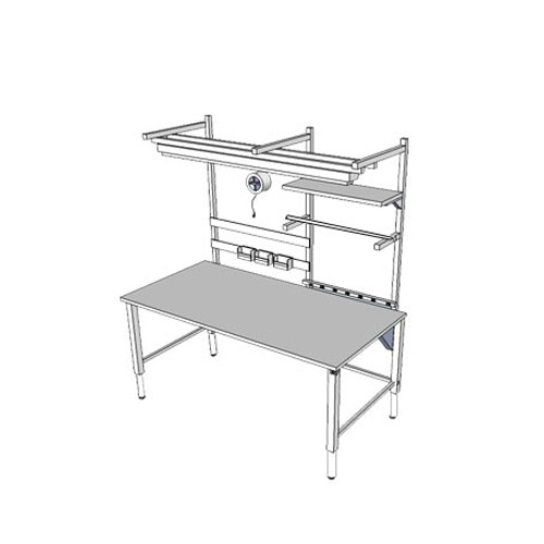 Infinity adjustable workbench with 4 legs