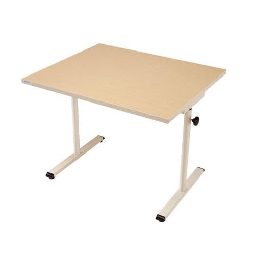 Knob adjusted adjustable worktable